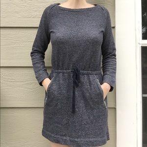Lou & Grey gray long sleeve sweater dress small